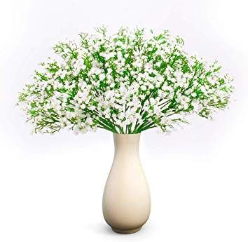 Amazon Com Baby S Breath Wedding Decorations Artificial Flower Bouquet Artificial Flowers Real Touch Flowers