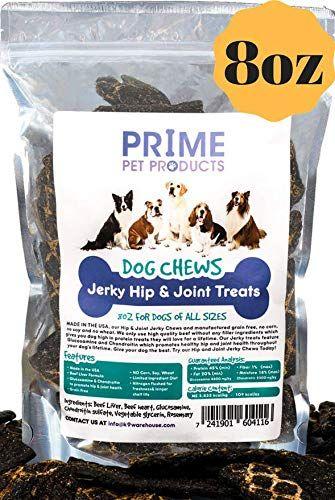 Healthy Jerky Dog Treats Made In Usa 8oz Bag Source Of Glucosamine