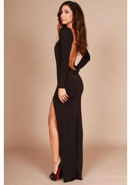 35+ Long black backless dress information