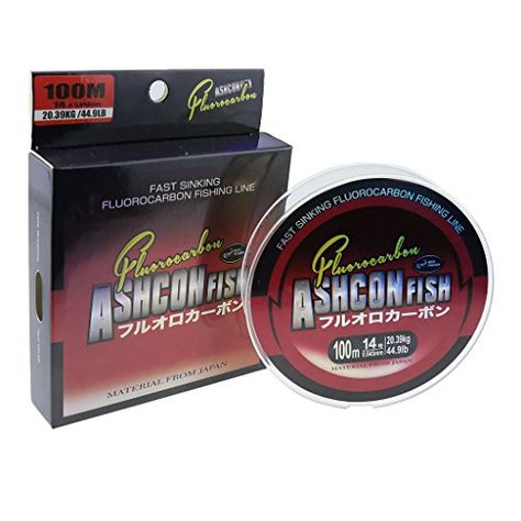 Ashconfish 100 Fluorocarbon Fishing Line Leader - 100 Yards https - line leader