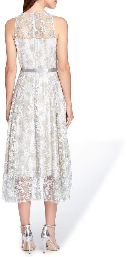 Tahari Asl Embroidered Fit Flare Dress Embroidered Asl Tahari Dresses Fit Flare Dress Mother Of The Bride Dresses