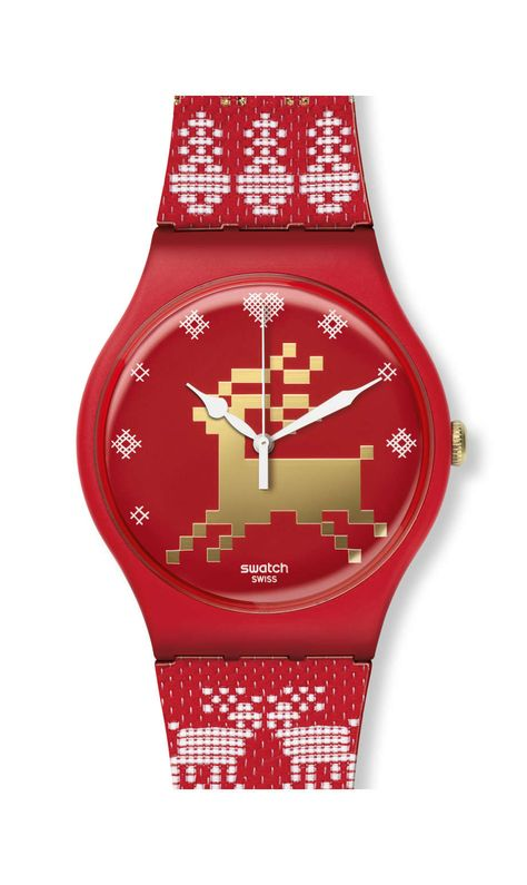 Swiss made, the Swatch watch RED KNIT features a quartz movement, a textile/leather strap and a plastic watch head. Discover more Originals New Gent on the Swatch Canada website.