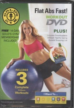 Golds Gym Flat Abs Fast Dvd Workout Click On The Image For Additional Details This Is An Amazon Affiliate Link And I Recei Fast Abs Flat Abs Fast Golds Gym