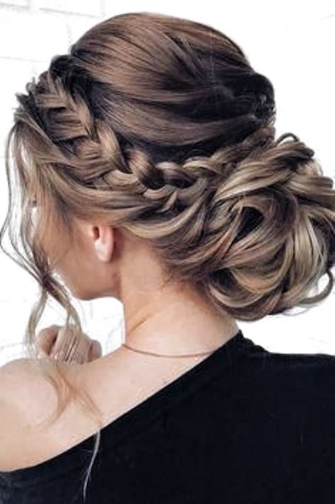 48 Mother Of The Bride Hairstyles ❤️ mother of the bride hairstyles low bun with braided halo and loose curls mpobedinskaya #weddingforward #wedding #bride #weddinghair #motherofthebridehairstyles #weddingbraids #BestWeddingHair