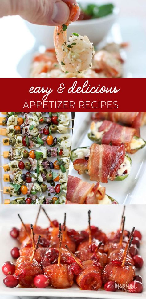 Delicious and Easy Hors D'oeuvres Ideas #appetizer #recipe #HorsDoeuvres #snacks #appetizers #bacon #recipes