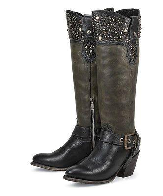 e38306e9026 New BLACK leather womens ladies cowboy fashion riding boots - SALE ...