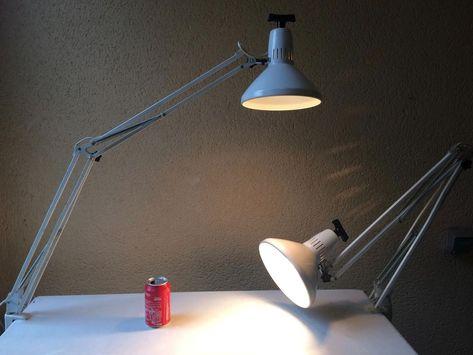 Lampe De Bureau Architecte Atelier Design Vintage 70s Ledu A Etau 2