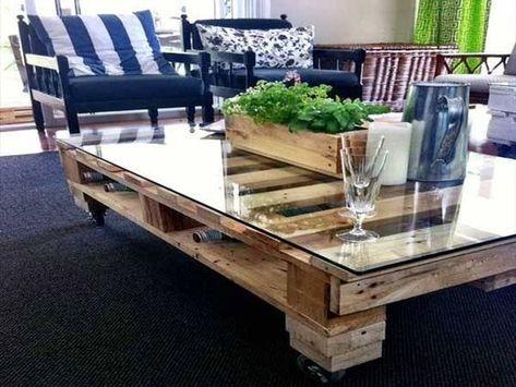 17 Idées pour fabriquer une table basse palette | Trucs et bricolage ...