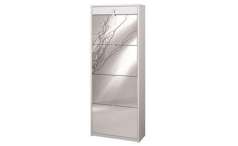 Scarpiera 3 Ante Bianca.Scarpiera Lady 4 Ante Bianco Specchio Conforama For The Home