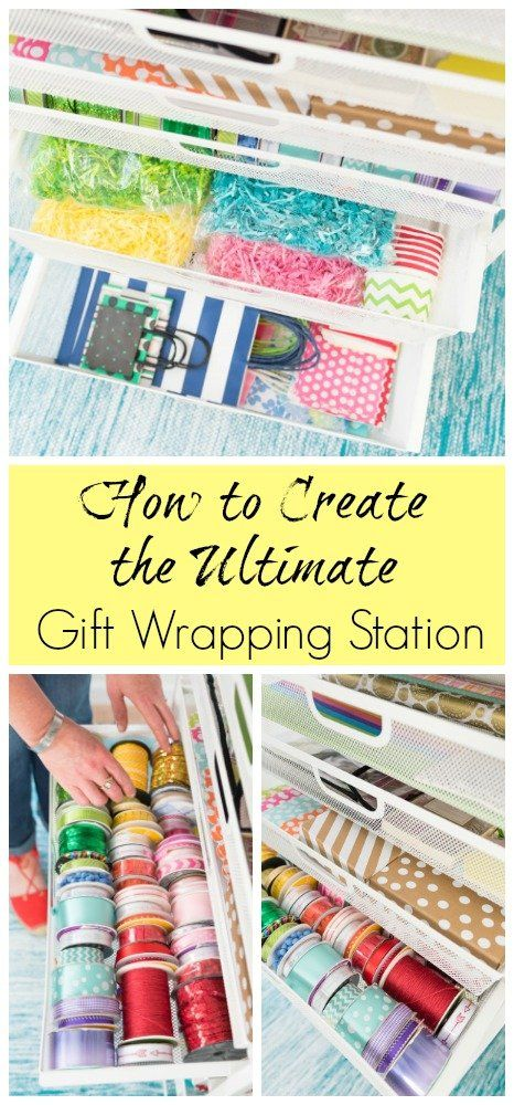 How To Create The Ultimate Gift Wrapping Station Wrapping Station Gift Wrapping Station Organization Gifts