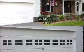 Faux Windows On Garage Door Garage Doors Garages Painting Faux Window Garage Doors Outdoor Decor