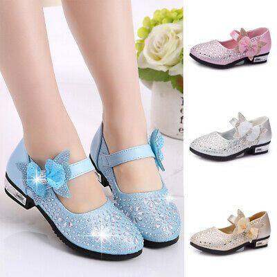 2019 Children Girls Flats Bow Shoes Kids Girl Baby Princess Party Wedding Shoes