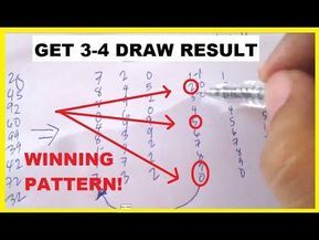 How To Spot A Lottery Sure Winning Pattern To Win Daily Youtube Lottery Numbers Winning Lottery Numbers Lottery