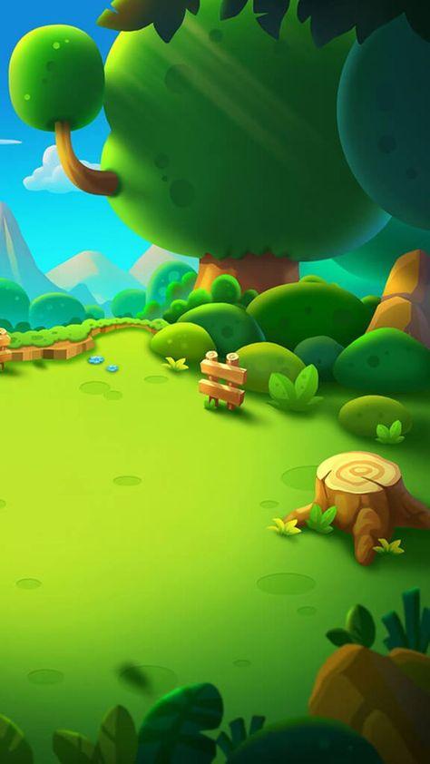 Cartoon H5 Green Background   Game background art, Minecraft banner designs, 2d game art