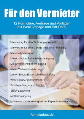Vorlagen Tabellen Formulare Vordrucke Urkunden Formularbox De In 2020 Vorlagen Formular Vollmacht