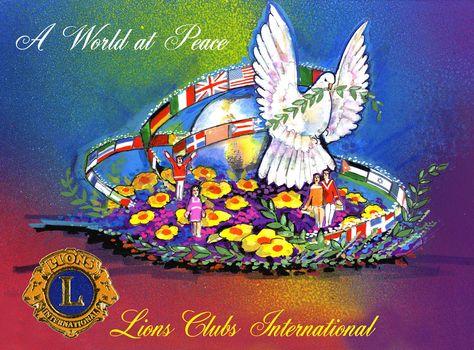 "2012 - Lions Clubs International ""A World of Peace"" - Art Aguiree"