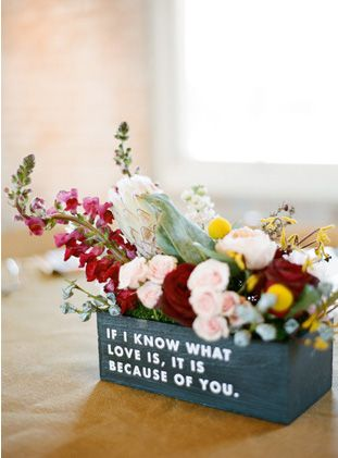 Adorable little quote centerpieces photo by ryan ray photography adorable little quote centerpieces photo by ryan ray photography wedsociety wedding centerpieces wed society centerpieces pinterest junglespirit Gallery