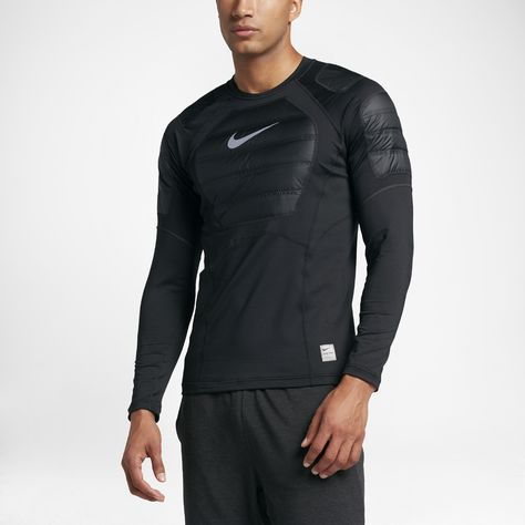 ce29cc20ee547 Nike Pro HyperWarm AeroLoft Men s Long Sleeve Training Top Size Large  (Black) - Clearance Sale