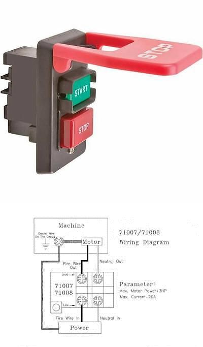 Other Tools And Workshop Equipment 11704 Electrical Motor Machine Safety On Off Paddle Switch Single Phase 110 240v Electrical Motor Workshop Equipment Motor