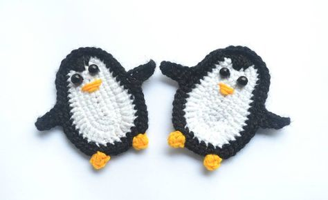 Amigurumi Quetzal : P is for penguin: crochet penguin applique repeat crafter me