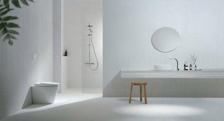 คอลเลกช นใหม Oval Cotto Modern Bathroom Design One Bedroom House Plans One Bedroom House
