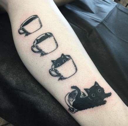 48 Trendy Cats Tattoo Simple Ideas Black Cat Tattoos Cat Tattoo Cat Tattoo Simple