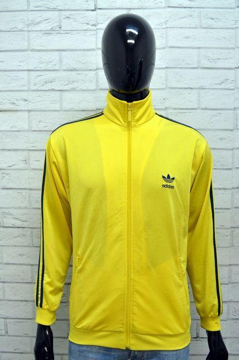 felpa adidas donna zip gialla