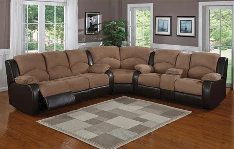 Microfiber Sectional Couch With Recliner Chic Features For Your