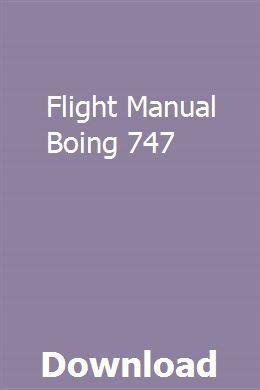 Flight Manual Boing 747 Manual Car Kawasaki Mule Manual