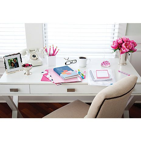 See Jane Work Kate Writing Desk 30 H x 47 12 W x 20 D White by Office Depot & OfficeMax