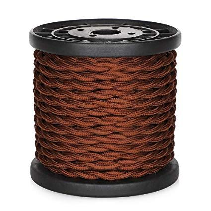 Ul Listed 32 8ft Twisted Cloth Covered Wire Carry360 Antique Industrial Electronic Wire 18 Gauge 2 Conductor Vintage Style Cloth Cord Pendant Lamp Antiques