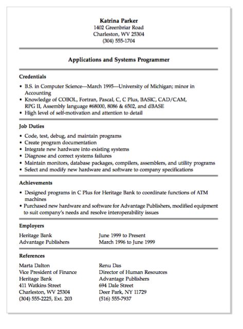 Training Consultant Resume Sample (resumecompanion) Resume - programmer job description