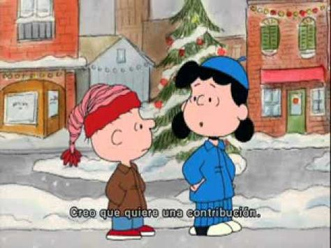 Watch Charlie Brown Christmas.I Want A Dog For Christmas Charlie Brown With Spanish