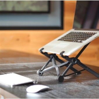 Portable Adjustable Laptop Notebook Table Stand Tray Holder Eye-Level Ergonomic