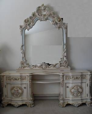 French Provincial Makeup Vanity