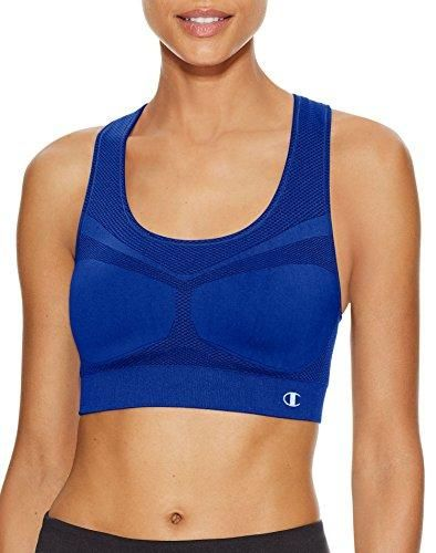 Seamless Sports Bra Wire-free Zip Front Close Removable Pads High Impact Danskin