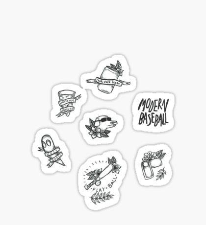 Paramore Gifts Merchandise Baseball Sticker Merchandise Design Sticker Set