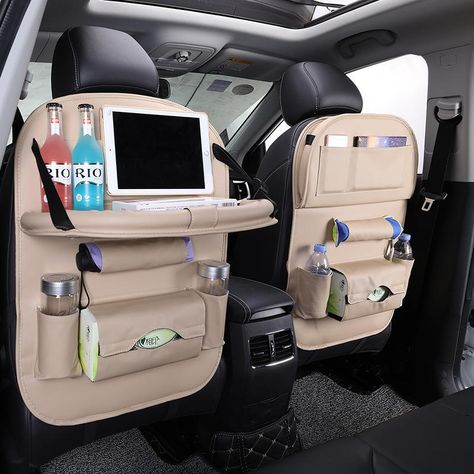 ( 1 piece) PU Leather Car Back Seat Organizer Car Seat Tray Accessories Organisateur Siege Voiture Car Organizer Seat Asiento Almacenaje. Portable to carry, makes traveling comfortable and trouble free, this organizer is a great addition to your vehicle. Car Seat Tray, Car Seat Organizer, Car Organizers, Cute Car Accessories, Car Interior Accessories, Vintage Accessories, Sunglasses Accessories, Jewelry Accessories, Fashion Accessories