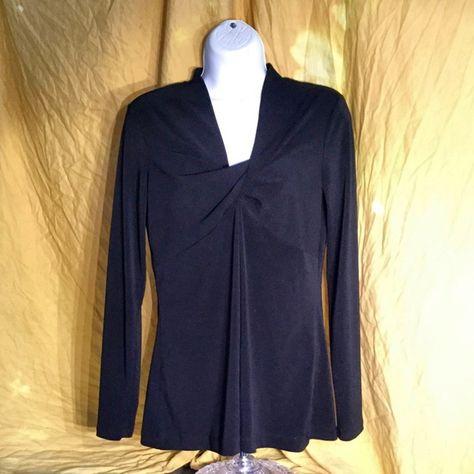 Vera Wang Long-sleeve Tunic Like new! Stretchable material, and very comfortable to wear. Vera Wang Tops Tunics