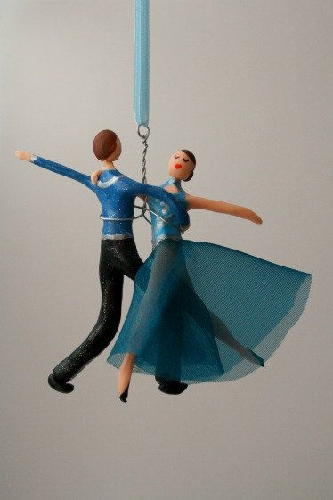 CUSTOMIZED to your costume Hand Sculpted Ballroom dancing couple ...