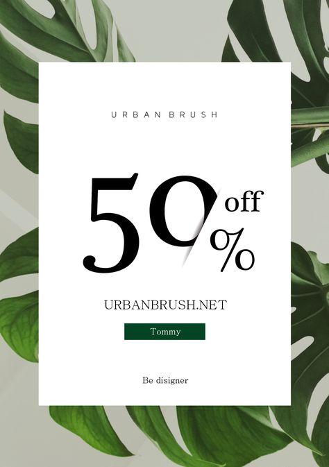식물 세일 포스터 일러스트 ai 무료다운로드 free plant sale poster - Urbanbrush