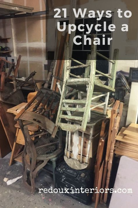 I think Chairs are a conundrum for people. They can be hard to paint or if a spindle breaks or comes loose it takes time and patience to fix them. - May 11 2019 at Furniture Repair, Furniture Projects, Furniture Making, Furniture Makeover, Diy Furniture, Wooden Chair Makeover, Chair Redo, Outdoor Furniture, Refurbished Furniture