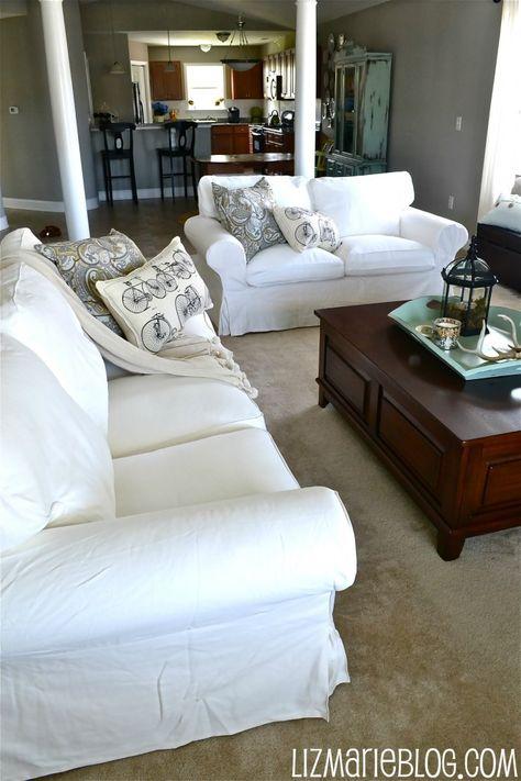 New White Slipcover Ikea Couches Ektorp sofa, White couches and - ikea ektorp gra