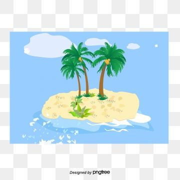 Summer Vector Element Summer Coconut Tree Wave Png And Vector With Transparent Background For Free Download Free Graphic Design Summer Beach Background