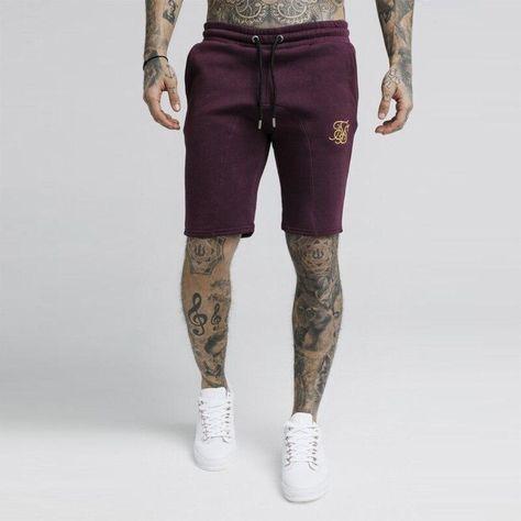 2021 Men Summer New Fashion Cotton Shorts Man Fitness Knee Length Sweatpants Male Jogger Workout  Sik Silk Brand Short Pants - Brown / L