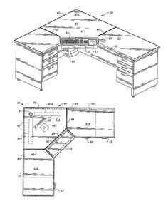 office desk plan. Computer Corner Desk With Wire Management Capability - California Office Furniture Plan R
