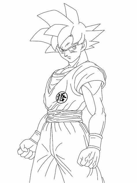 Super Goku Coloring Pages 5 By Kelly Dragon Ball Super Wallpapers Dragon Pictures Goku Drawing