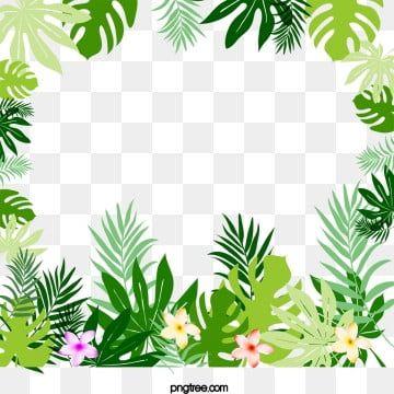 Simple Tropical Rainforest Plant Summer Promotion Poster Psd Flower Border Flower Drawing Flower Frame