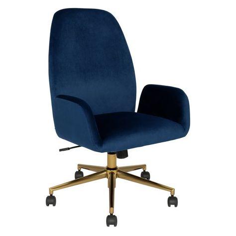 Buy Argos Home Clarice Velvet Office Chair Blue Office Chairs In 2020 Velvet Office Chair Blue Office Chair