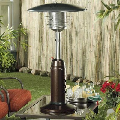 Perfect For Intimate Backyard Spaces These Tabletop Patio Heaters Are Small And Fueled By Liquid Propane Tabletop Patio Heater Gas Patio Heater Patio Heater
